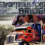 Transformers Optimus Crossing Bridge